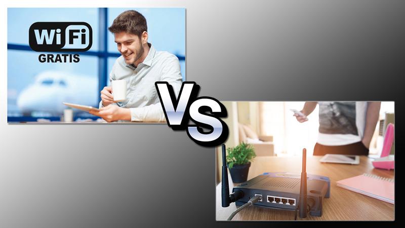 ¿Qué diferencias hay entre conectarnos a Internet desde casa o desde un punto Wi-Fi gratuito en la calle?