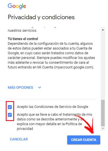 Gmail crear cuenta Iniciar sesión