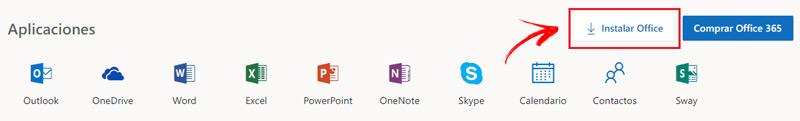 Boton para descargar e instalar Office 2016