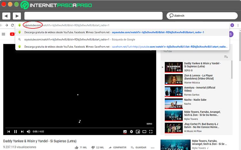Cómo descargar vídeos del YouTube sin usar programas modificando la URL