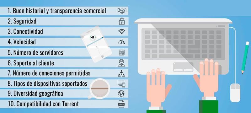 Caracteristicas para elegir y contratar el mejor VPN