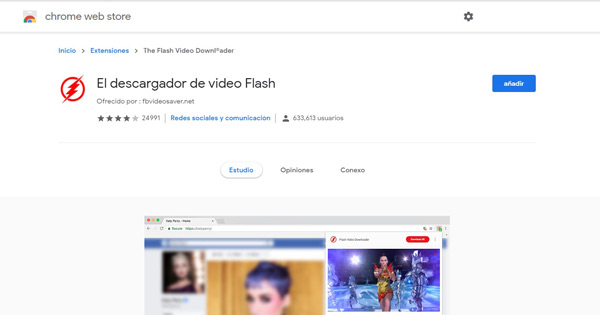 El descargador de vídeo flash