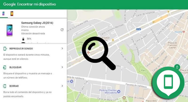 Encontrar mi dispositivo de Google