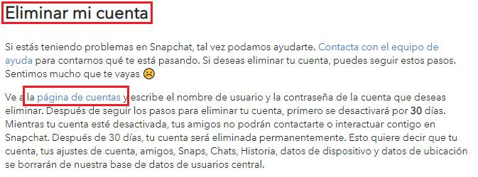 Entrar a pagina de cuentas de Snapchat