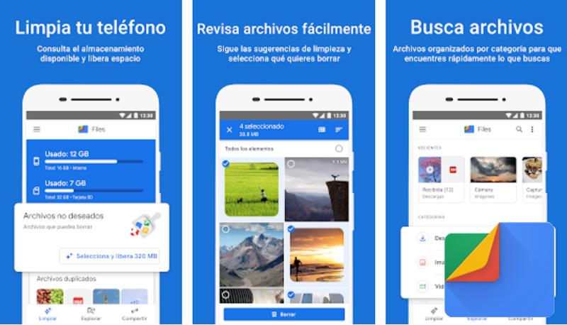 Files de Google: Libera espacio de tu teléfono