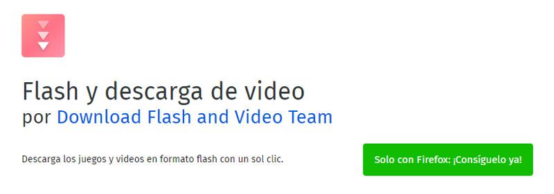 Flash y descarga de video
