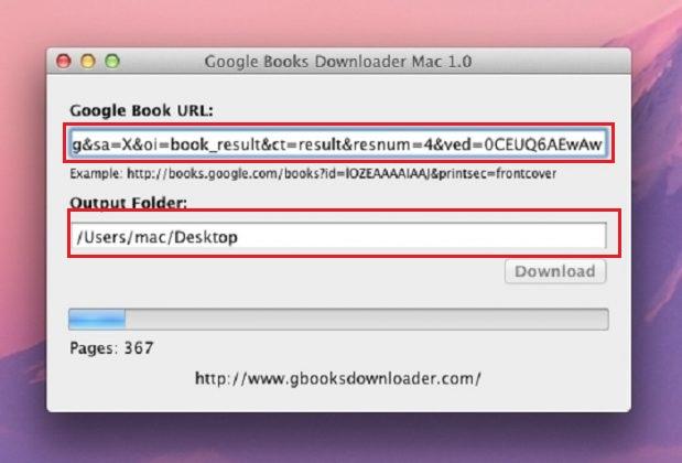 Téléchargement de Google Livres MacOS
