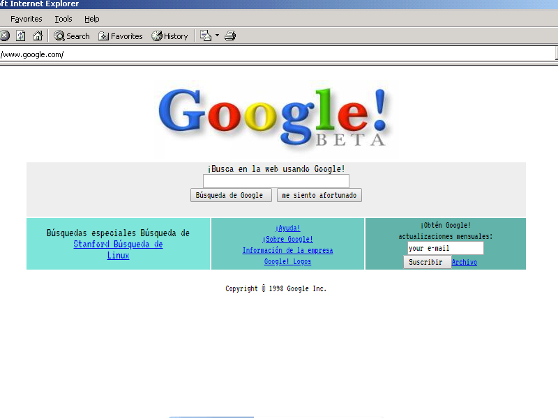 Google en 1998