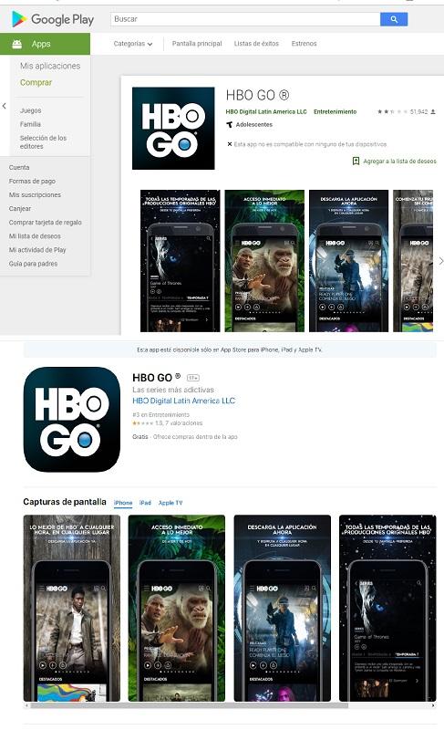 HBO Android e IOS descarga
