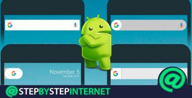 How to activate and customize the Google bar widget on Android? Step by step guide