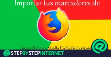 How to import your bookmarks from Google Chrome to Mozilla Firefox easy and fast? Step by step guide