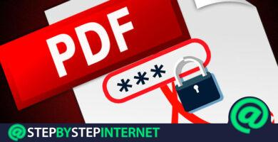 How to protect PDF files with a password so that it is not modified? Step by step guide