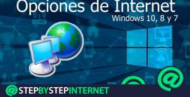 Internet options in Windows 10