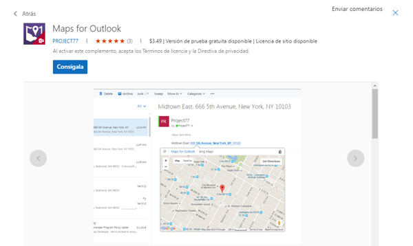 Maps for Outlook