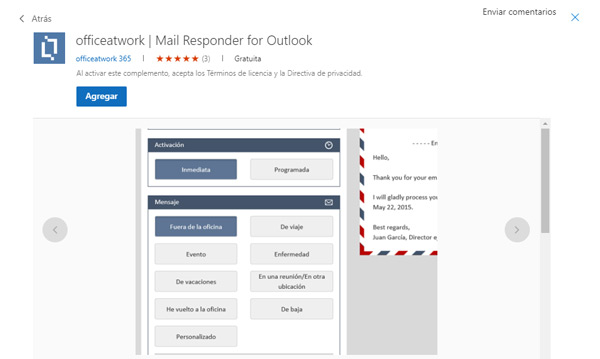 Office at Word Mail Responder