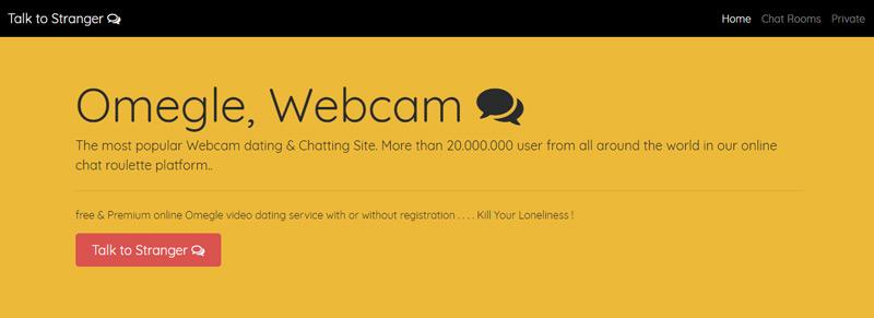 Chat omegle webcam Chrome Web