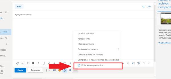 Pasos para añadir e instalar un complemento o extensión a tu correo Outlook y mejorar sus prestaciones