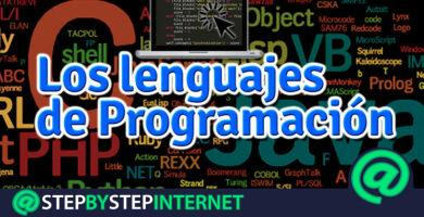 What types of programming languages are there in computing and which are the most used? 2020 list