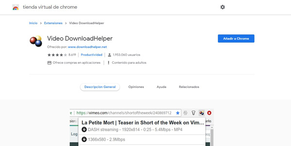 Vídeo DownloadHelper