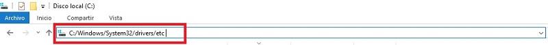 barra de direccion de escritorio windows 10
