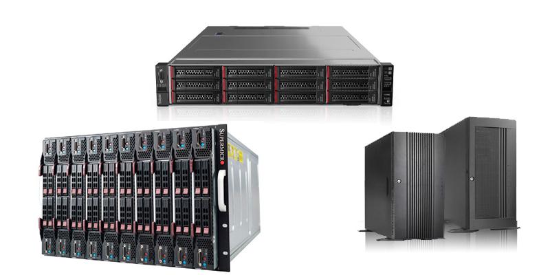 servidores rack torre y blade
