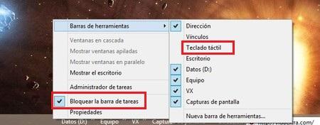 teclado tactil windows 8