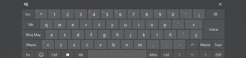 teclado virtual cuarta apariencia
