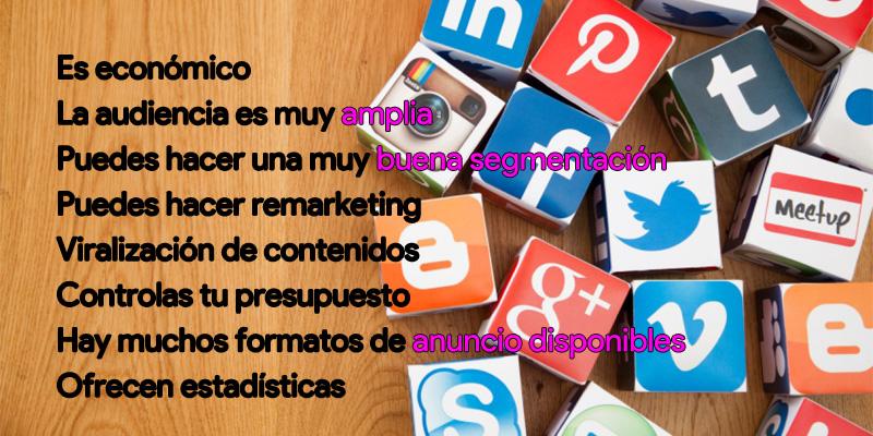 ventajas publicidad en redes sociales