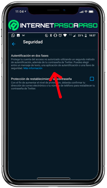 Learn step by step how to enable two-factor authentication on Twitter - two-phase authentication