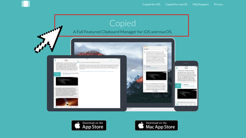 Copied Clipboard Manager App