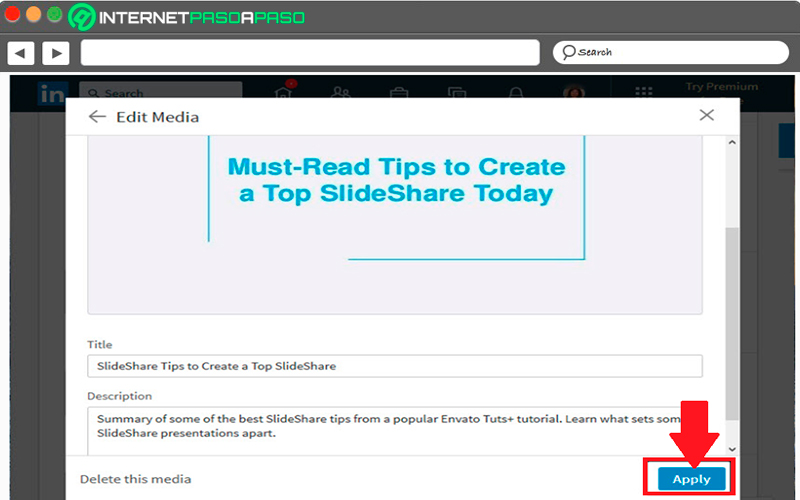 Add SlideShare to your LinkedIn profile