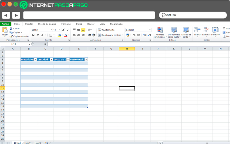 Steps to calculate the cost of production of a product in Microsoft Excel