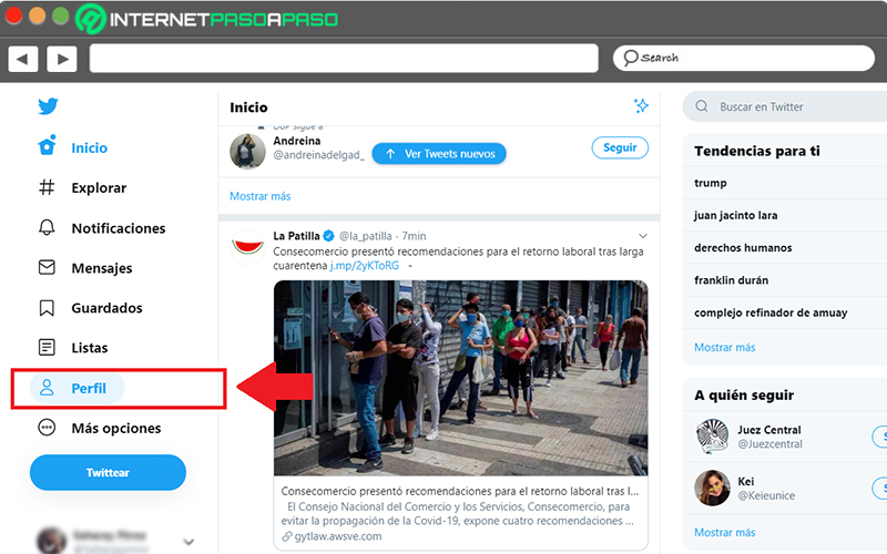 Learn step by step how to modify the cover photo of your Twitter profile
