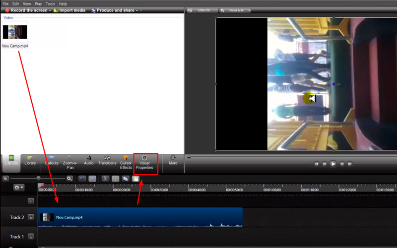 Steps to rotate any video in MacOS without losing the quality Camtasia 01