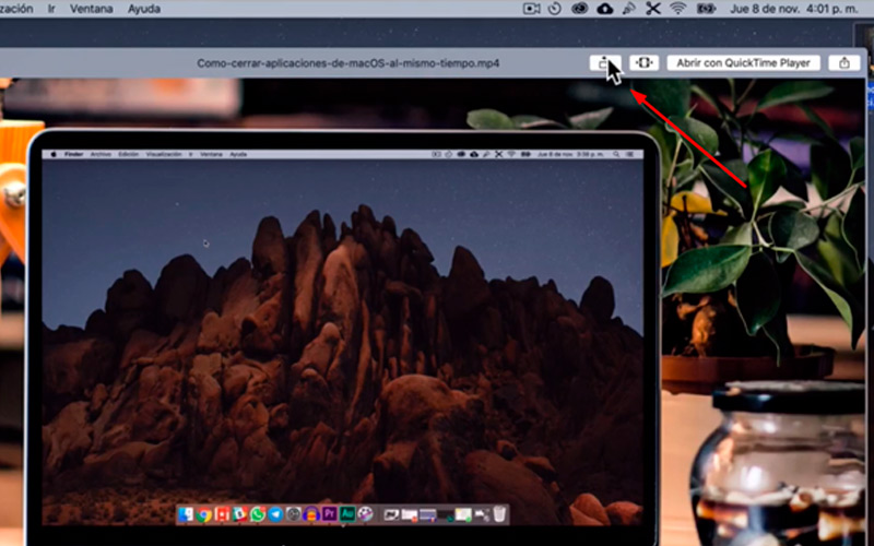 Rotate image without programs on Mac