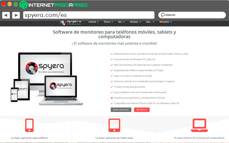 Spyera home page