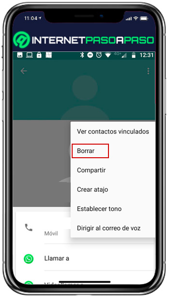 Find out how to remove a contact from your WhatsApp list - delete