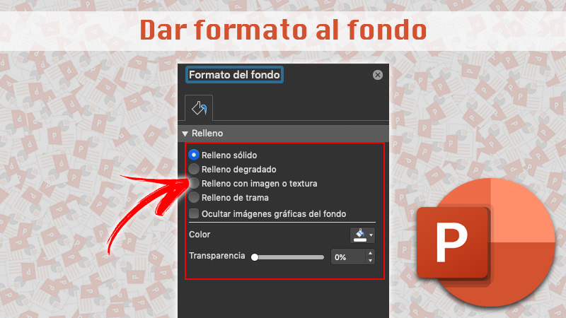 Format the background in PowerPoint
