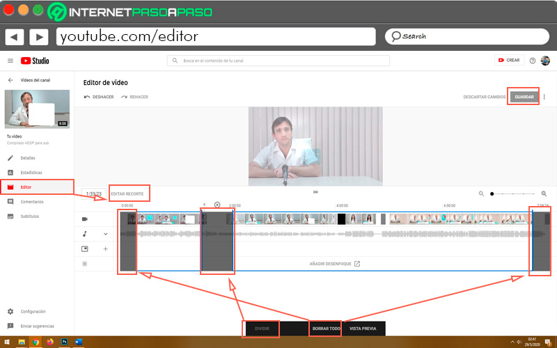 Learn step by step how to edit your videos with the YouTube editor - Edit videos