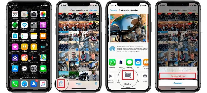 hide instgram photos from ios gallery