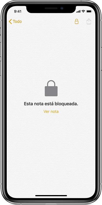 note locked iphone