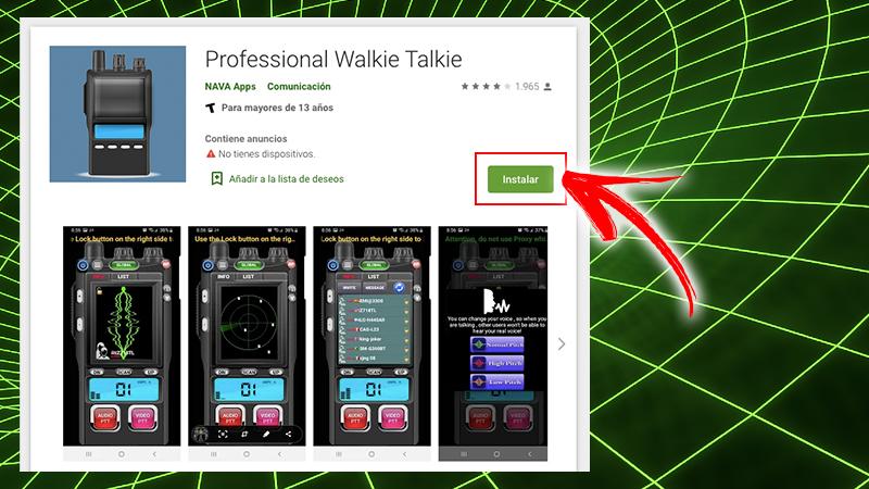 Talkie-walkie professionnel