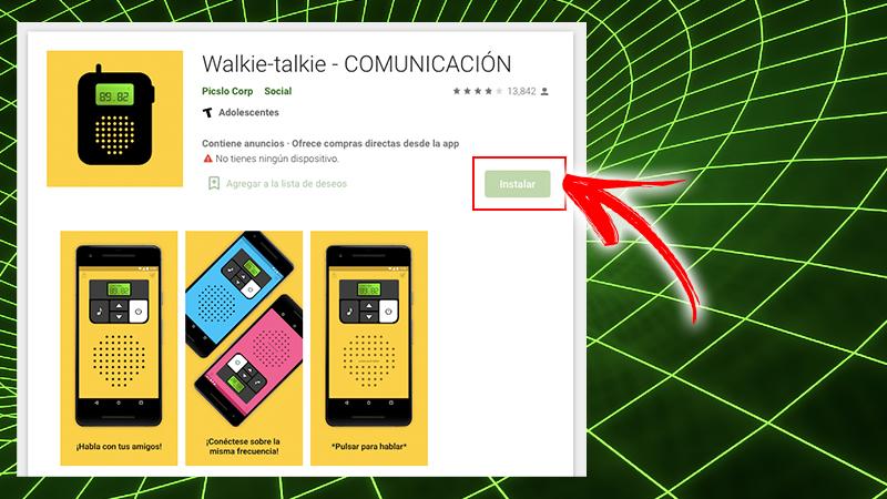 Communication par talkie-walkie