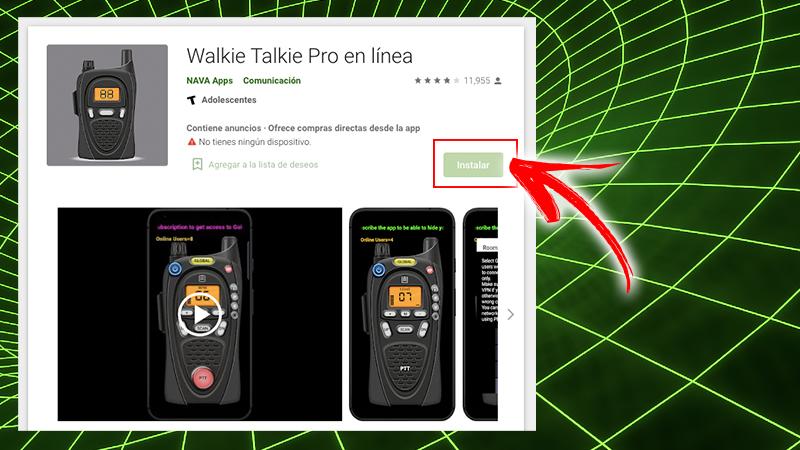 Talkie Walkie Pro en ligne