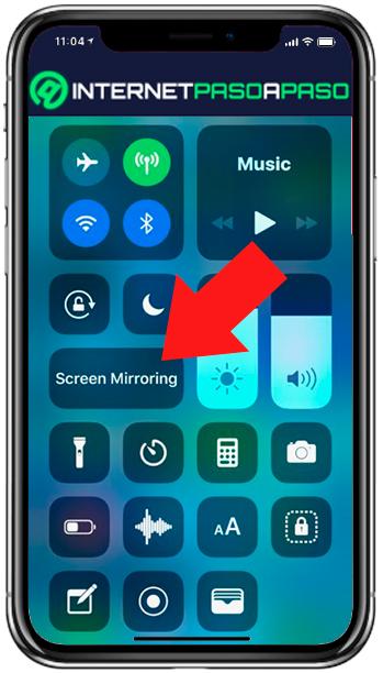 Partage d'écran sur iPhone